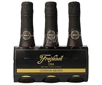 Freixenet Cava Brut Cordon Negro Pack de 3 botellas de 20 cl