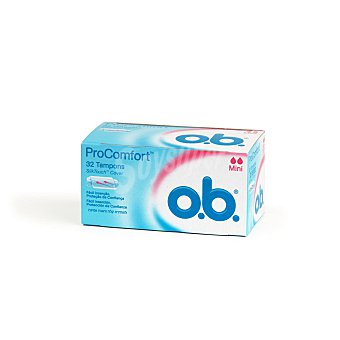 o.b. Pro confort tampón mini Caja 32 u