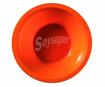NV CORPORACION Cuencos desechables de plástico color naranja, 0,45 litros de capacidad, 14 centímetros de diámetro 0,45 litros