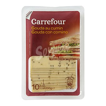 Carrefour Queso gouda comino lonchas 200 g