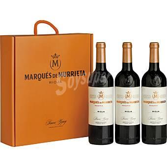 MARQUES DE MURRIETA vino tinto reserva D.O. Rioja  Estuche 3 botellas 75 cl