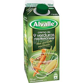 Alvalle Crema de 6 verduras alvalle 750ML Brik 750 ml