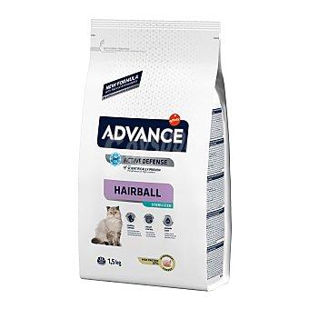 ADVANCE Pienso para gatos esterilizados Advance Sterilized Hairball pavo y arroz 1,5 Kg
