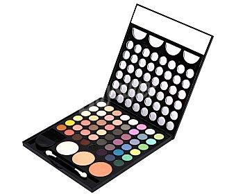 Idc color Estuche paleta cosmética con 48 colores y brochas, Magic Studio 1 unidad