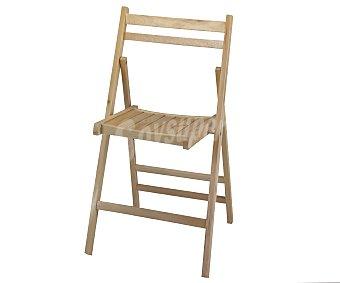 MOBILKIT Silla plegable, fabricada en madera barnizada con acabado natural, 98x46x4.2 centímetros 1 unidad