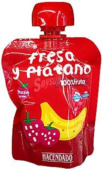Hacendado Fruta bolsillo fresa y plátano Bolsa 90 g
