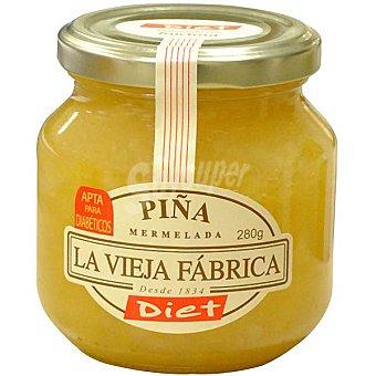 LA VIEJA FABRICA DIET mermelada de piña sin azúcar  frasco 280 g