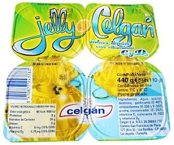 GELLY de CELGÁN Gelatina de Limón Pack 4 Unidades de 110 Gramos