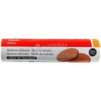Eroski Basic Galleta rellena de chocolate Paquete 250 g