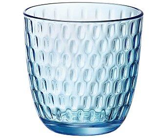 BORMIOLI Slot Acqua Pack de 6 vasos de vidrio color azul, 0,29 litros, Line Acqua BORMIOLI. Pack de 6 vaso