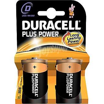 DURACELL PLUS Power pila alcalina d (lr20 - mn1300) 15 voltios blister 2 unidades 2 unidades