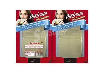 Abrilisto Queso sandwich en lonchas Pack de 2x350 g