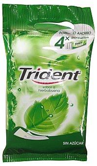 Trident Chicle clorofila láminas sin azúcar Pack 4 (54 g)