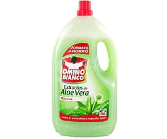 Omino Bianco Detergente Liquido Para Maquina Extractos de Aloe Vera 56d