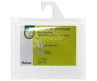 Productos Económicos Alcampo Funda protectora de almohada de microfibra, 90 centímetros 1 Unidad