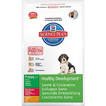 HILL'S SCIENCE PLAN PUPPY MEDIUM Healthy Development Nutrición superior para cachorros de razas medium con pollo Bolsa 7,5 kg
