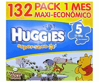 HUGGIES SUPERSECO Pañales Pack 1 Mes Talla 5 (13 a 18 Kilogramos) Pack 1 Mes