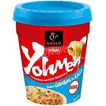 Yohmen Noodles de gambas al ajillo Gallo Nissin vaso 78 g