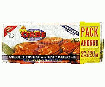 Orbe Bipack Mejillones Escabeche 138 Gramos