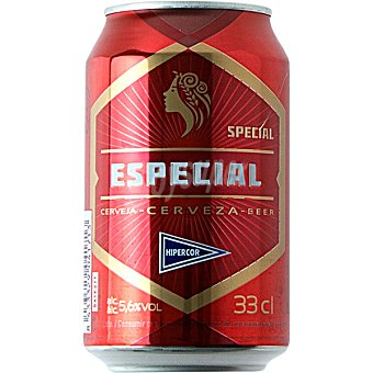 Hipercor Cerveza rubia Especial lata 33 cl Lata 33 cl