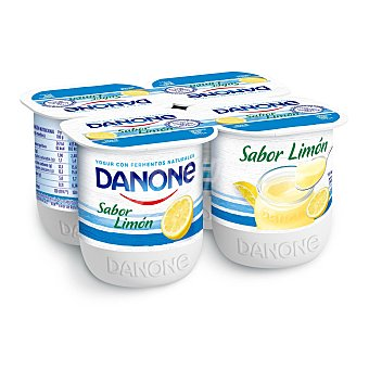Danone Yogur sabor limon pack 4 unds. 125 g