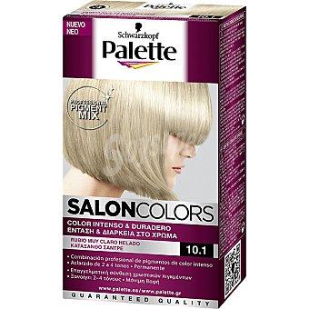 Schwarzkopf Palette Tinte nº 10.1 Rubio Muy Claro Helado color intenso y duradero Salon Colors Caja 1 unidad