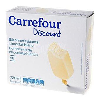 Carrefour Helado bombón chocolate blanco 120 ml 6 ud