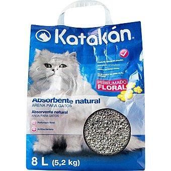 KATAKÁN Absorbente natural con aroma floral para gatos  Bolsa 8 L