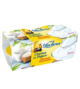 La Lechera Nestlé Crema de yogur natural azucarado Pack de 4x125 g