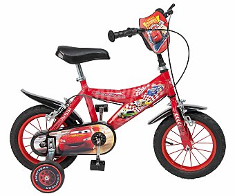 TOIMSA Bicicleta Infantil Cars Disney 1 Velocidad 12 Pulgadas 1 Unidad