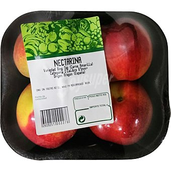 Melocotón nectarina Bandeja 800 g peso aproximado