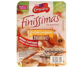 Finissimas Campofrío Pechuga de pavo Pavofrío braseada en lonchas  Envase 115 g