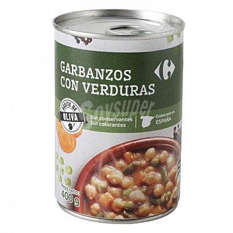 Carrefour Garbanzos con verduras 400 G 400 g