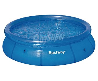 BESTWAY Cubierta solar para piscinas tubulares de 244 centímetros. Medida de la cubierta 230 centímetros. Usa la luz del sol para calentar el agua durante el día y mantiene la temperatura durante la noche y en los días nublados 1 unidad