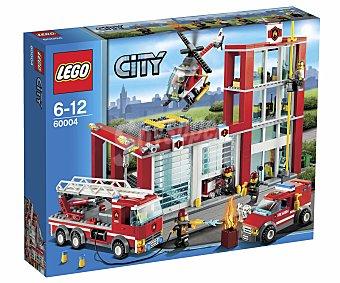 LEGO Juego de Contrucciones City, Estación de Bomberos, Modelo 60004 1 Unidad
