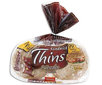 Silueta Bimbo Thins pan para sandwich 8 cereales Bolsa 310 gr