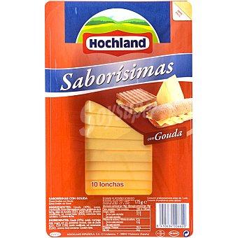 HOCHLAND SABORISIMAS Queso gouda 10 lonchas Envase 175 g