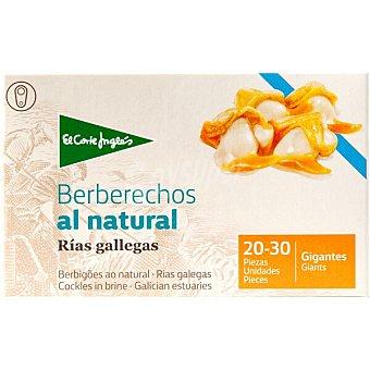 El Corte Inglés berberechos al natural de las rías gallegas 20-30 piezas  lata 65 g neto escurrido