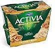 yogur con avena y nueces  pack 4 unidades 125 g Activia Danone