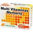 Multi-vitaminas para la memoria sin azúcares Caja 40 comprimidos Vallesol