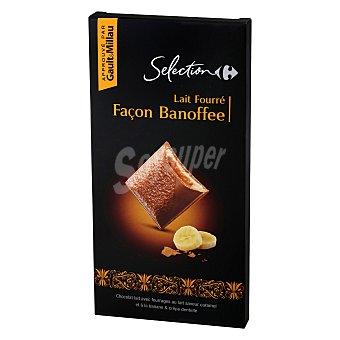 Carrefour Selección Chocolate con leche relleno de plátano 125 g