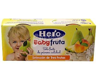 Hero Tarrito de 3 frutas Pack 2x120 g