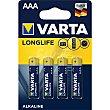 Pila alcalina AAA (LR3) Blister 4 unidades Varta