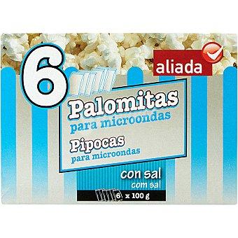 Aliada Palomitas con sal para microondas Pack 6 bolsa 100 g