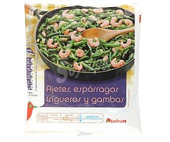 Auchan Revuelto de Ajetes, Trigueros y Gambas 400 Gramos