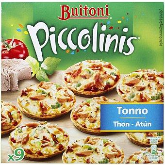 BUITONI PICCOLINIS Mini pizzas de atun estuche 270 g 9 unidades