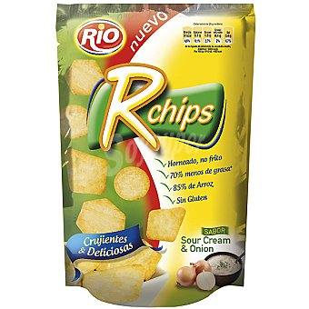 Rio r chips galletas saladas sabor sour cream & onion  bolsa 70 g