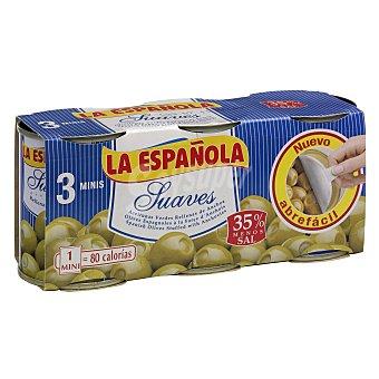 La Española Aceitunas rellenas suaves Pack 3x50 g
