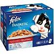 Fantastic selección de carnes en gelatina para gatos Pack 12 sobres x 100 g Purina Felix