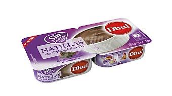 Dhul Natillas de chocolate sin lactosa 2 unidades de 125 g